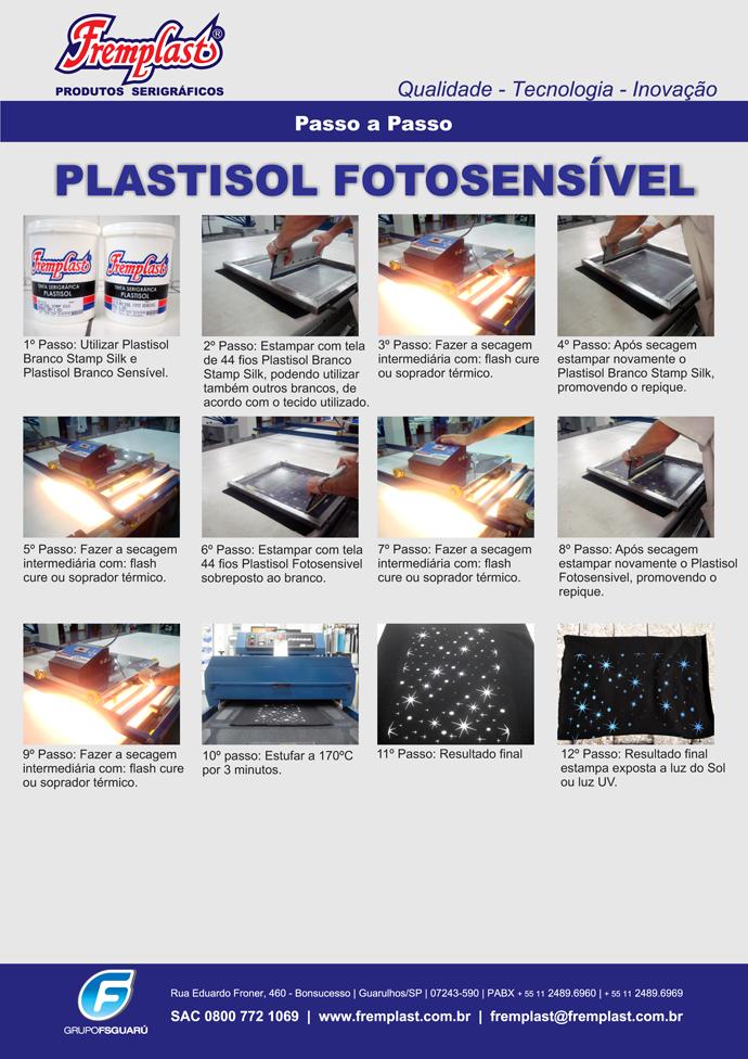 PassoPlastisolFotosensivel - Linha plastisol fotosensível