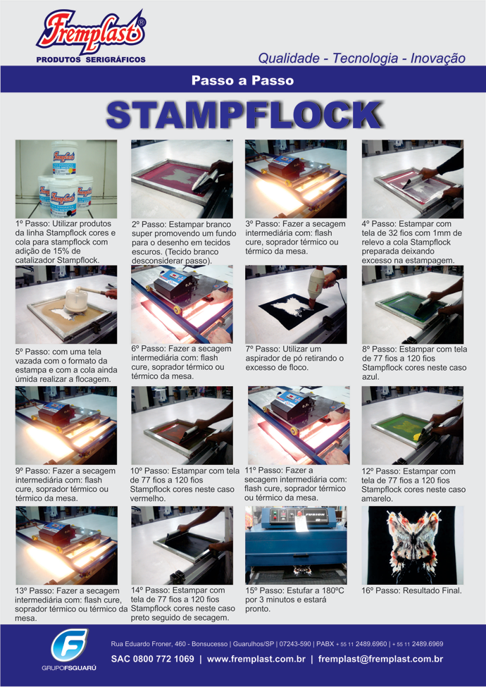 PassoStampflock fremplast - Lançamento Fremplast - Stampflock