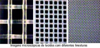 tecidos de diferentes lineauras fremplast - Tecidos serigráficos qual o tecido correto?