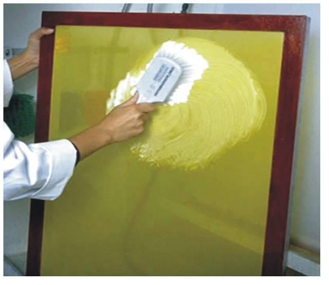 preparacao do tecido desengraxante fremplast - Passo a passo Fotograv (Dia 3)