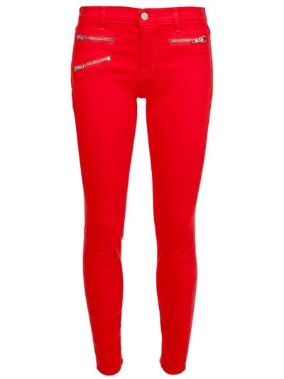 jeans - Tingimento vermelho