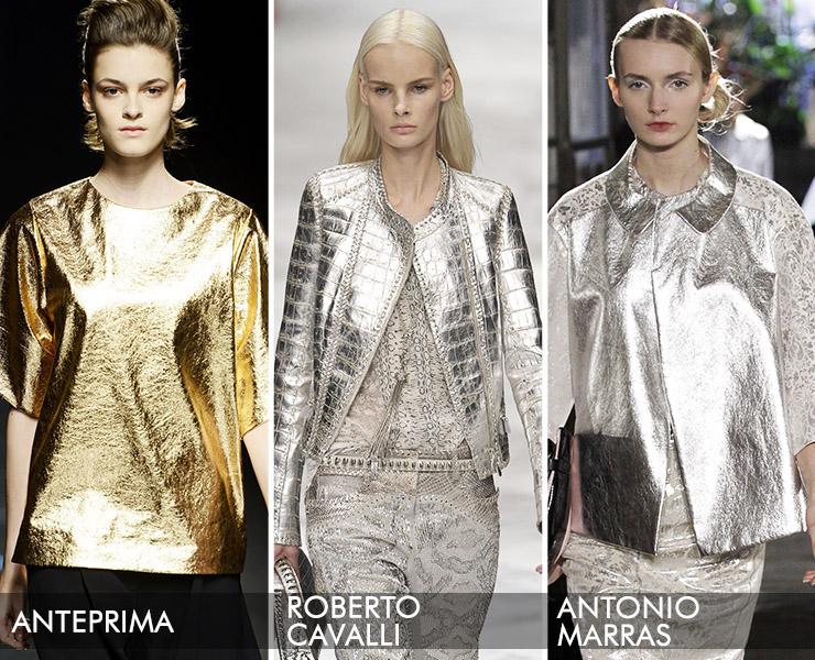 metalizados milao fremplast - Flores e metalizados em destaque nas passarelas de Milão