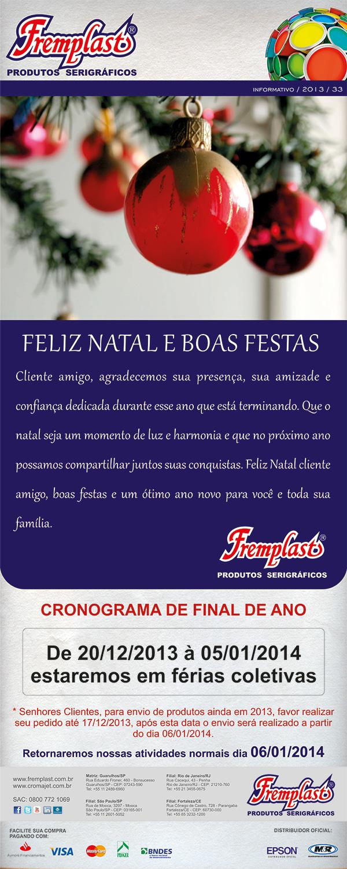 natal fremplast - Boas festas!