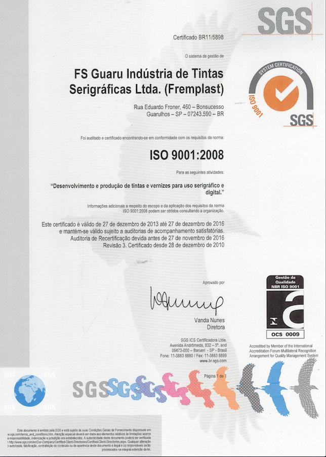 iso9001 fremplast - ISO 9001:2008