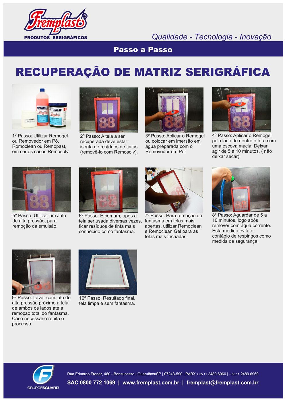 recuperacao matriz serigrafica - Recuperação da matriz serigráfica