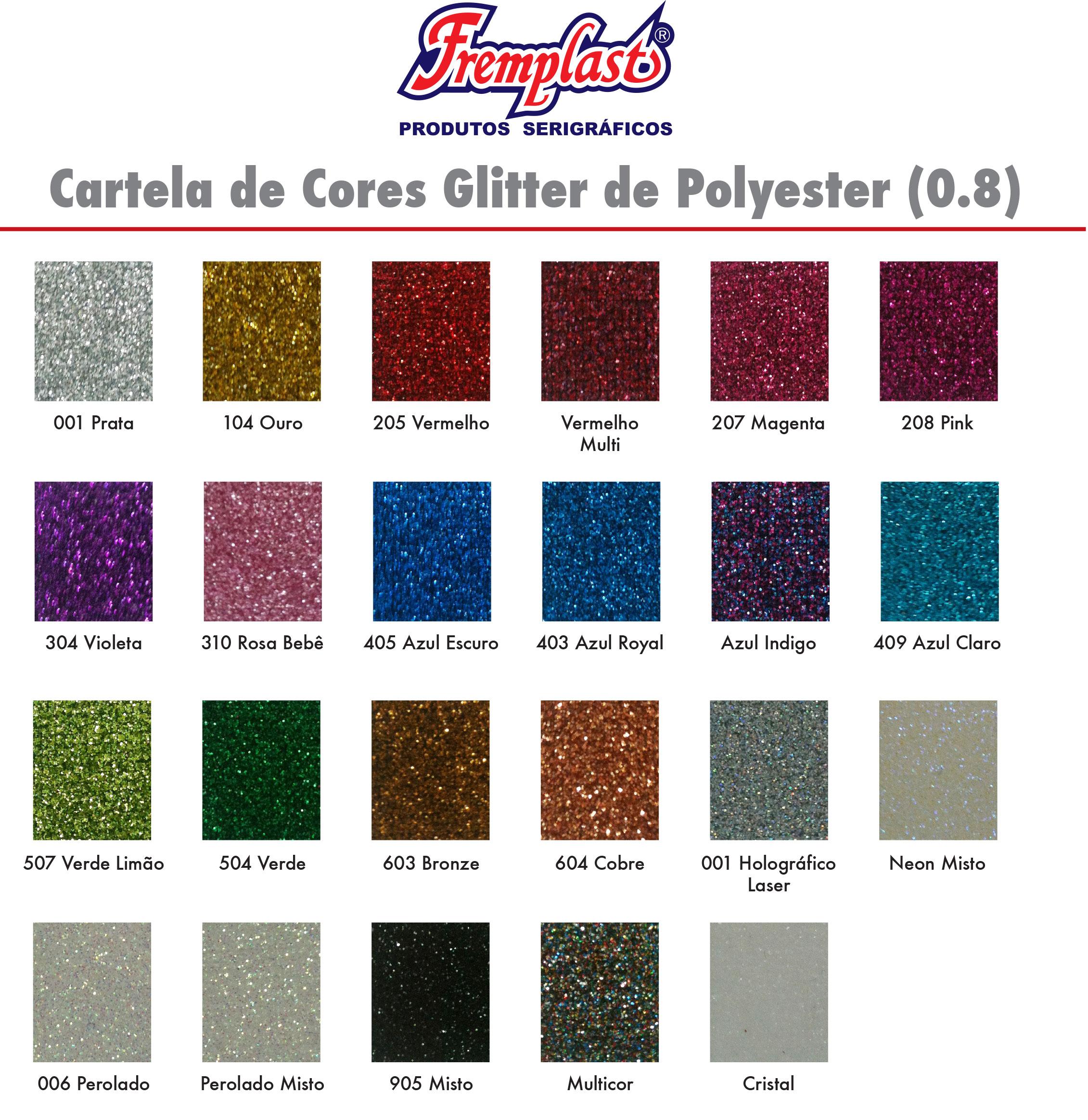 CartelaCoresGlitter fremplast - Cartela de cores