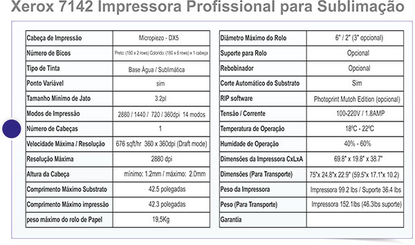 xerox fremplast - Xerox 7142 para sublimação e condições imperdíveis